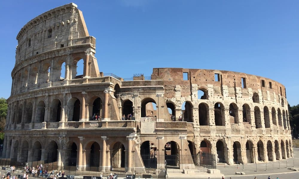The Colosseum in Rome, also called the Flavian Amphitheatre, is the largest Roman amphitheatre ever built.