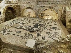 Mosaics in the necropolis of the via Triumphalis.