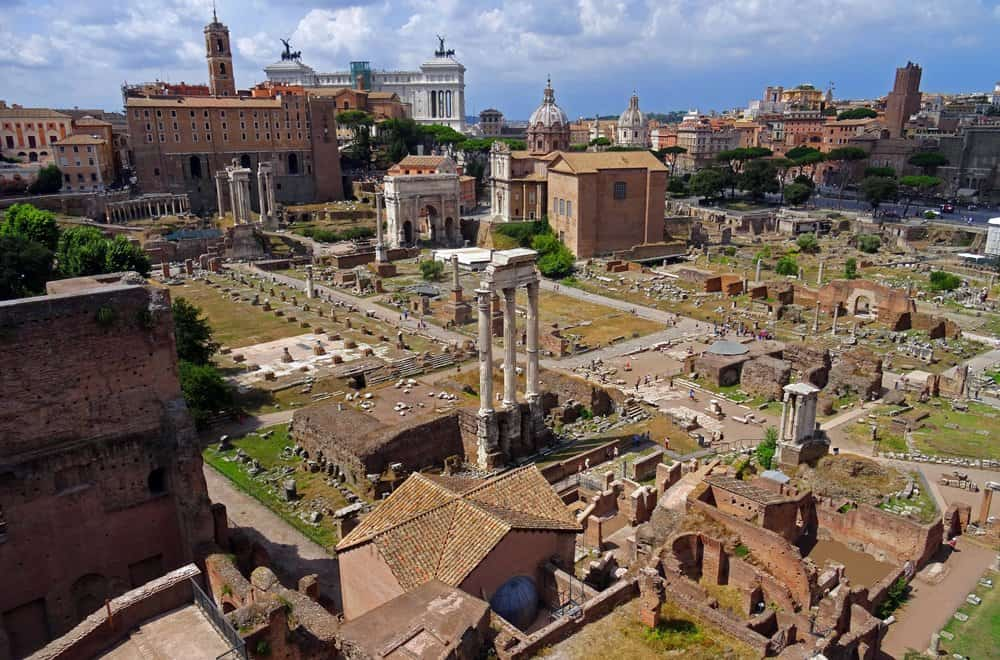 A view of the Roman Forum in Rome.