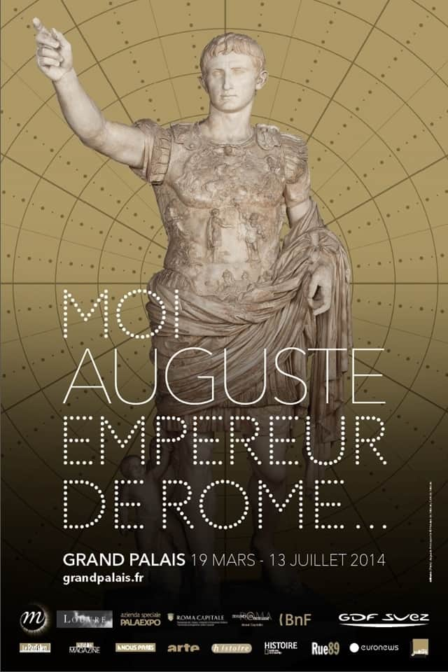 The poster for the Augustus Roman Emperor Exhibition in Paris.