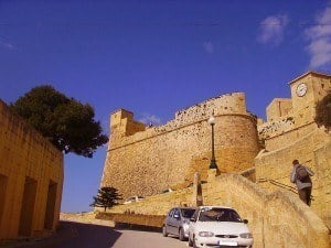 The impressive Medieval walls of the Citadel at Victoria/Rabat on Gozo.