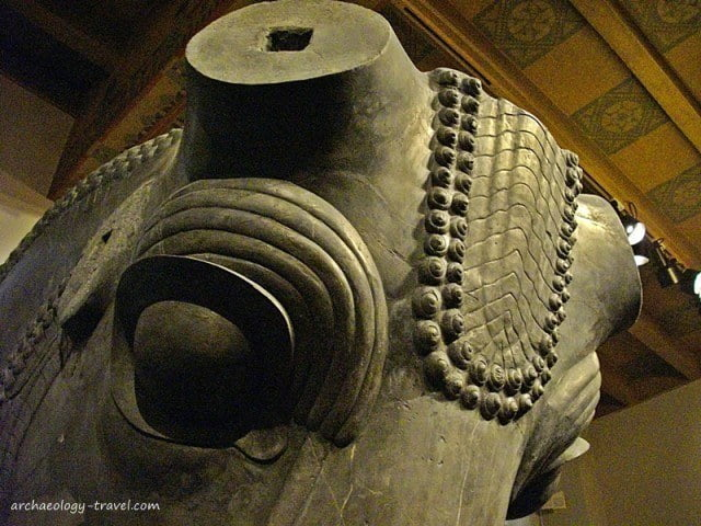The colossal bull head from Persepolis.