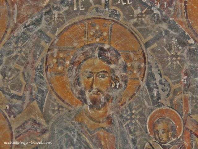 A close up of the figure of Christ.