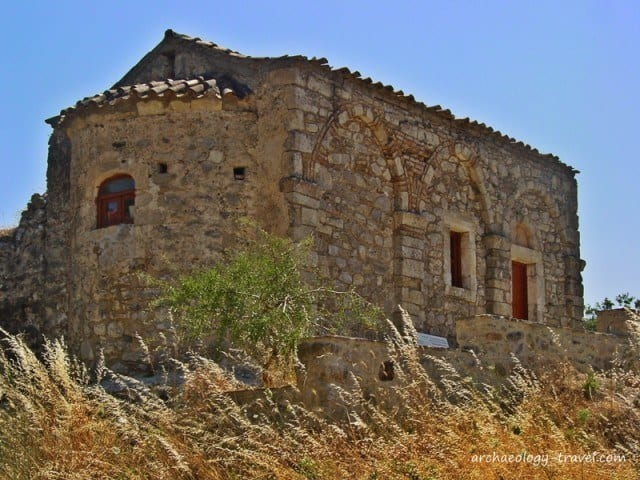 The church on the hillside.