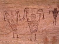 Painted Basketmaker style human figures in Grand Gulch, USA.