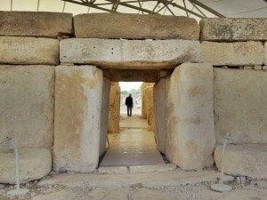 Entrances to the Hagar Qim Megalithic Temples, Malta.