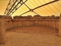 Megalithic Mnajdra Temples in Malta.