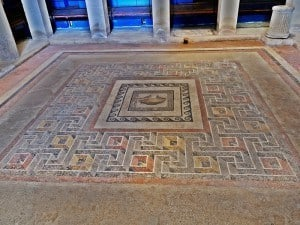 A polychrome mosaic in situ.