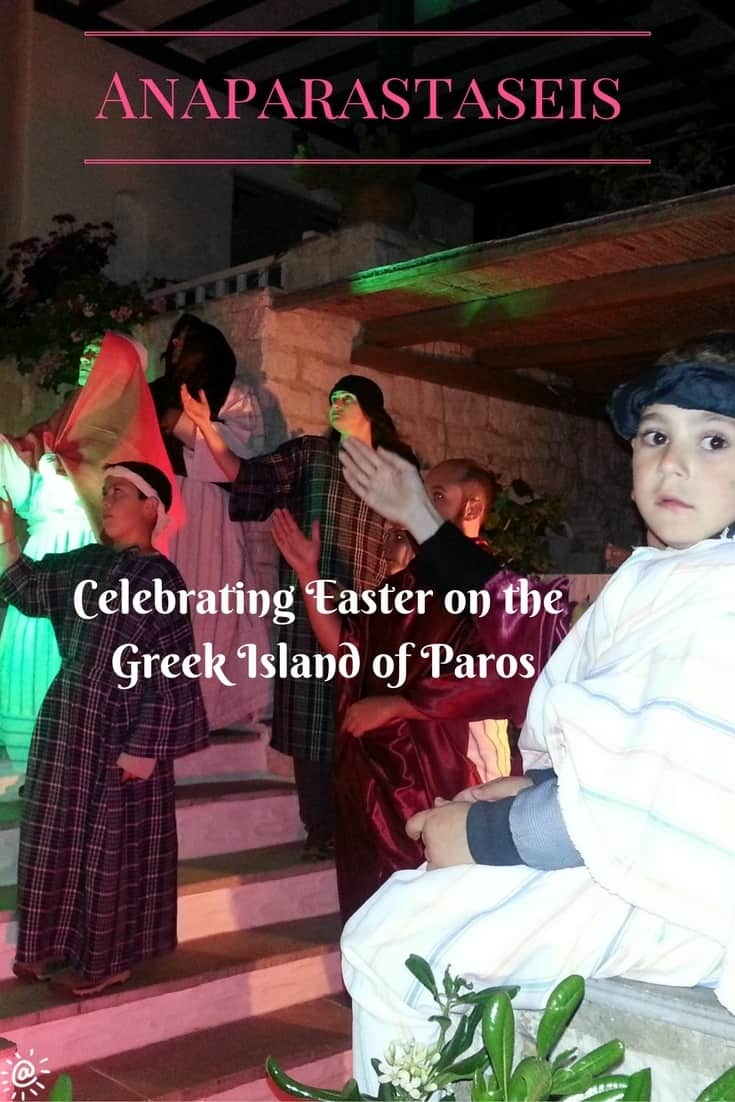 Anaparastaseis began as a way to teach the customs observed at Easter to children of Marpissa. Now it attracts people from all over the island on Good Friday night.