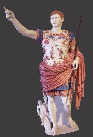 The Augustus Prima Porta statue as it might have looked in colour.