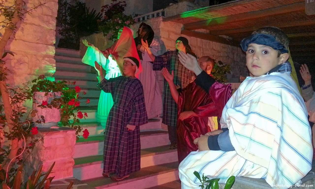 Anaparastaseis is performed on Good Friday in the village of Marpissa, Paros.