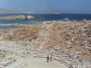 Beautiful sea views from great archaeological monuments on the island of Delos.