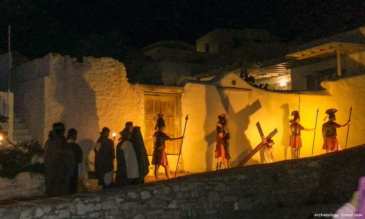 The Easter custom of Anaparastaseis in Marpissa, Paros.