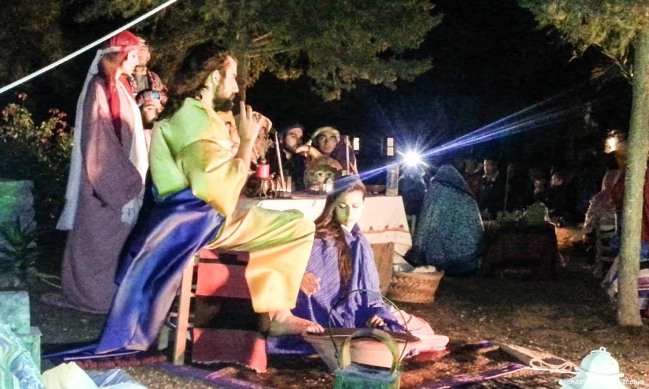 Mary Magdalene washes the feet of Jesus.