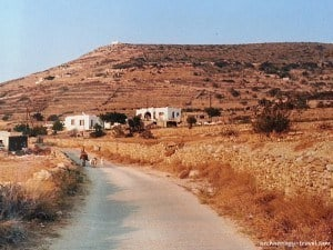 A more rural scene on the island of Paros, Greece.
