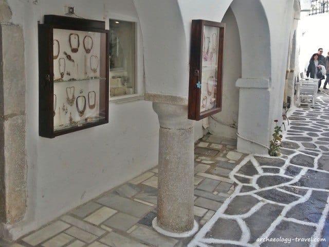 Spolia in the Medieval town of Parikia, Paros.