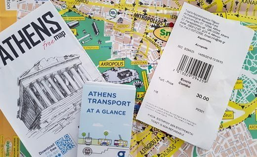 The combo ticket to the Acropolis and other ancient sites in Athens.