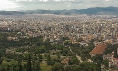 View over Athens from the Acropolis.