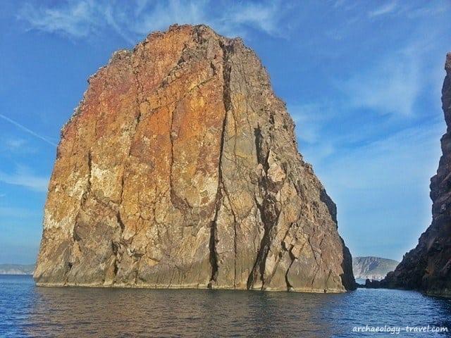 An outcrop of igneous rock, Milos.