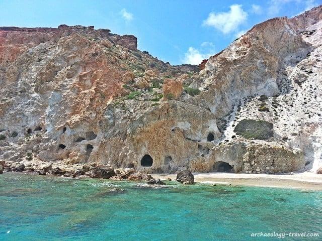 Coastal Kaolin rock, Milos.