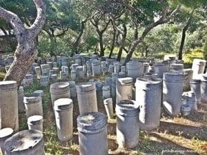 Tombstones in Kerameikos.