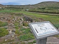 Ruins of the ancient site of Phylakopi, Milos.