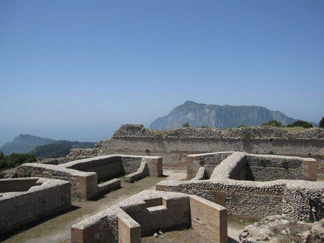 Emperor Tiberius's Villa Jovis on the Island of Capri, Italy.