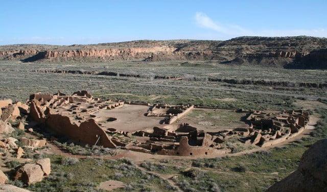 Chaco Canyon's most exceptional pueblo complex, Pueblo Bonito.