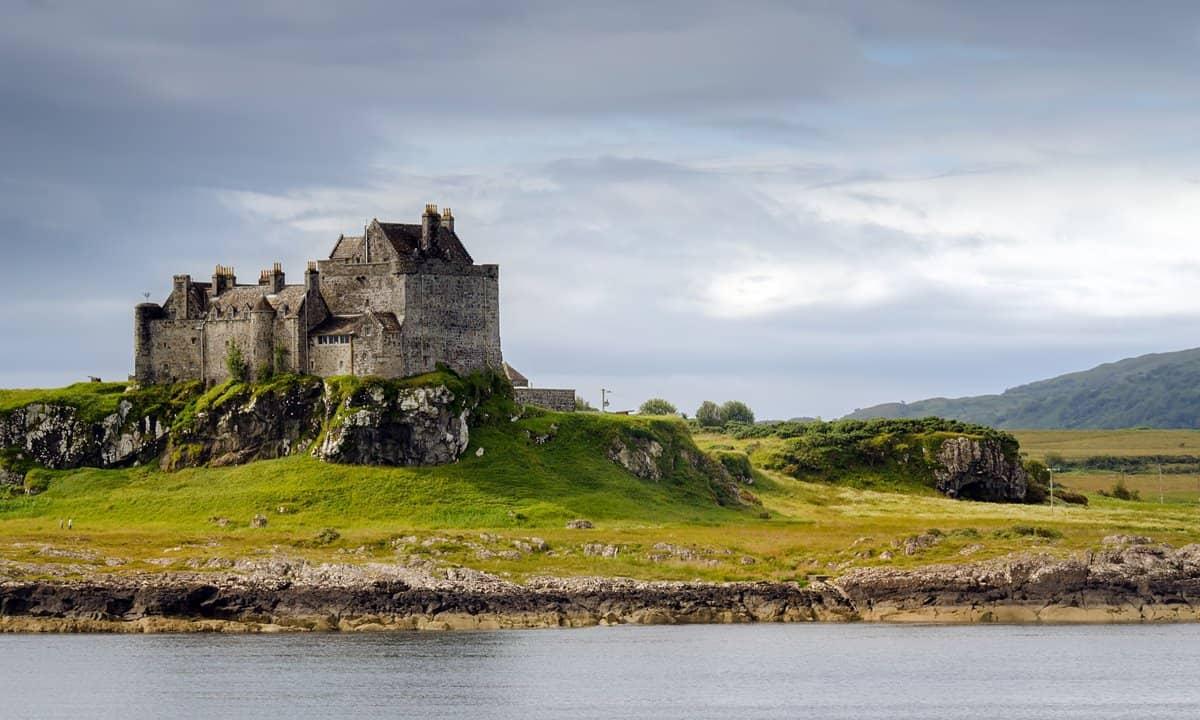 The 13th century Duart Castle on the Isle of Mull, Scotland.