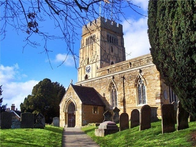The tower of All Saints' Church in Earls Barton is one of the best examples of later Anglo-Saxon architecture.