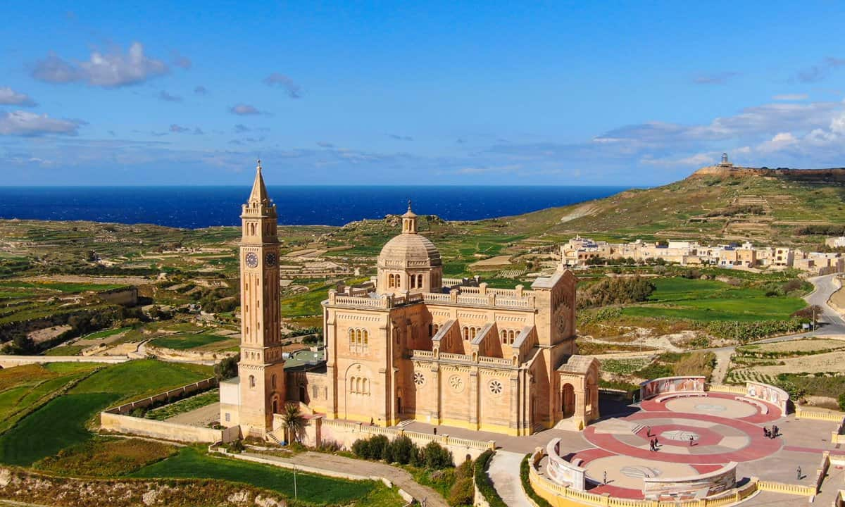 The Basilica of the National Shrine of the Blessed Virgin of Ta' Pinu on Gozo island.
