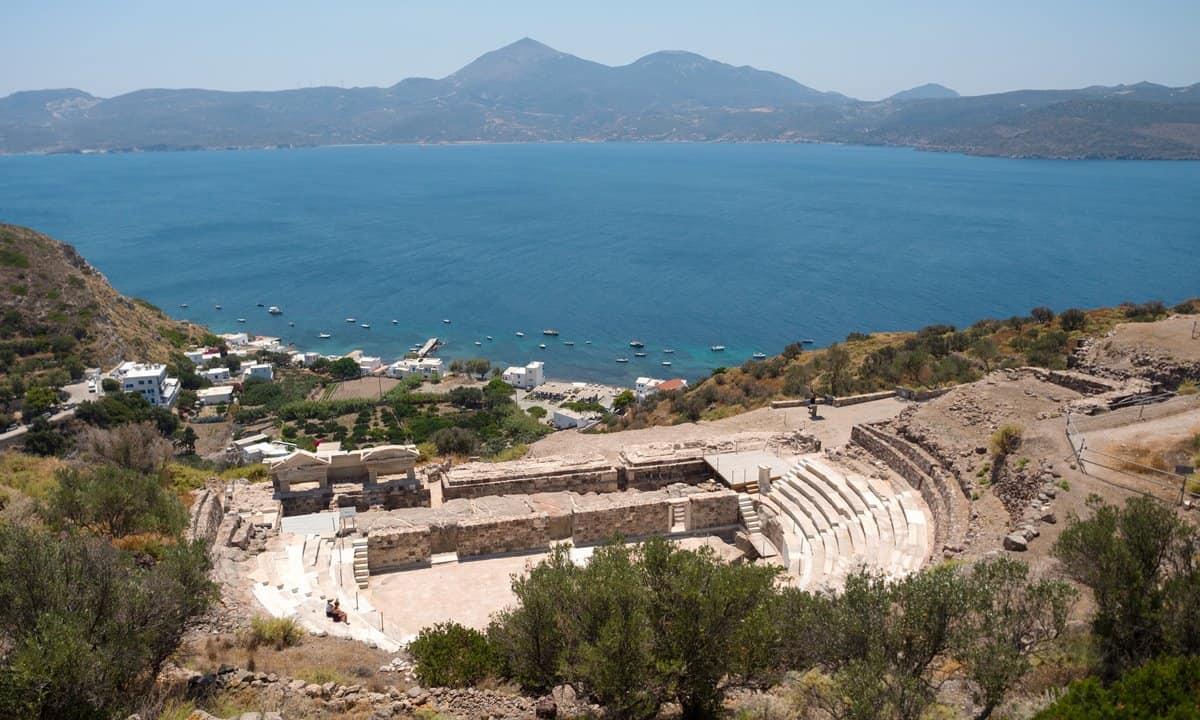 The Roman theatre on the island of Milos, Greece.