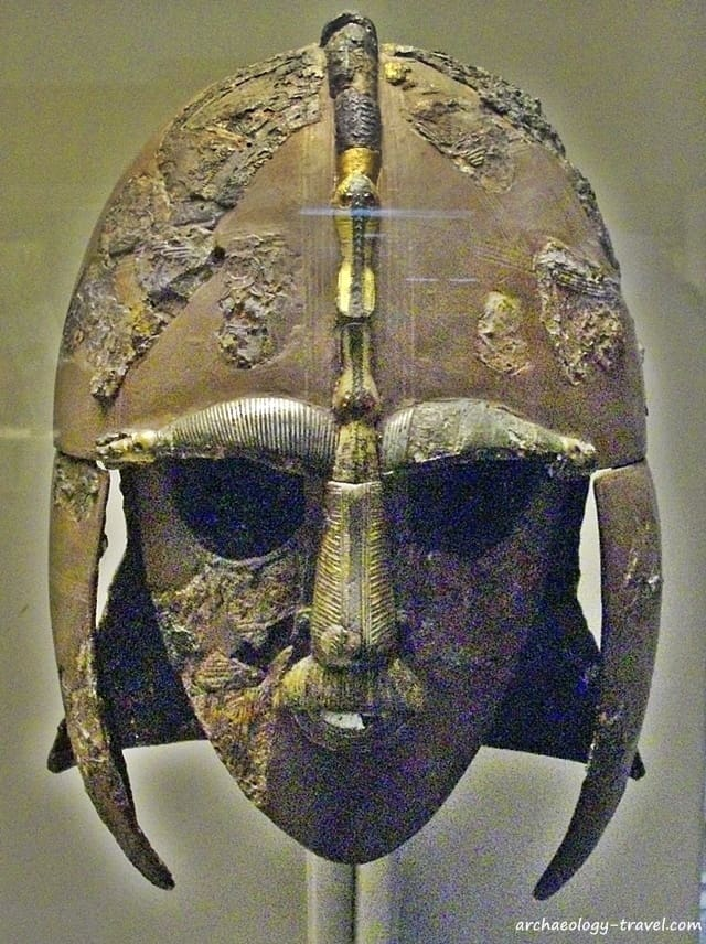 The Sutton Hoo helmet, one of the iconic images of England's Early Medieval Period.