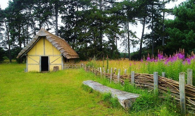 A reconstructed workshop at the West Stow Anglo-Saxon Village, Suffolk.