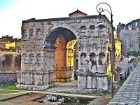 The Arch of Janus, in central Rome.