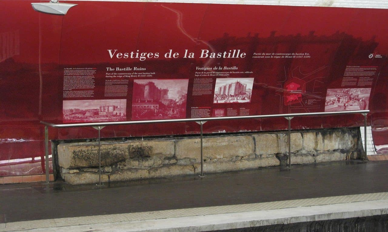 Storming the Bastille in 1789, Finding the Bastille Today