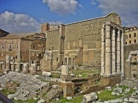 Remains of Temple of Mars Ultor, in the Forum of Augustus, Rome.