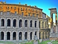 The theatre of Marcellus, now an apartment block in Rome.