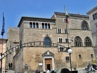 The Palazzo Vitelleschi in the ton of Tarquinia, which houses a museum for Etruscan civilisation.