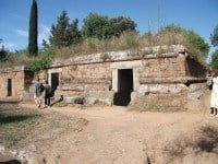 Ancient Etruscan tombs in the Necropolis of Banditaccia near Cerveteri. © Johnbod/Wikimedia