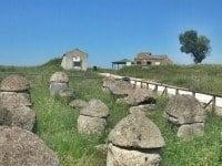 Etruscan stone urns at the Necropolis of Tarquinia, Lazio. © louis-garden/Wikimedia.
