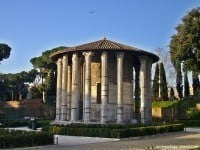 The Round Temple, also called the Temple of Vesta, in central Rome.