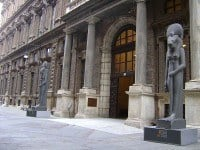 The entrance to the Egyptian Museum in Turin.