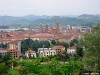 The town of Alba in the Piedmont region of Italy.