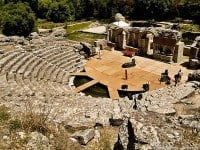 The ancient amphitheatre in Butrint, Albania © Geoff Wong - Wikipedia