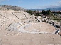 The ancient theatre at Philippi © MrPanyGoff - Wikipedia