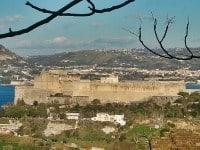 Aragonese Castle in Baia, Italy.