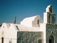 The rare architecture of the Holy Trinity Church in Adamas - now the Ecclesiastical Museum of Milos.