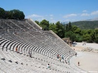 The theatre at Epidaurus © Jean Housen - Wikimedia