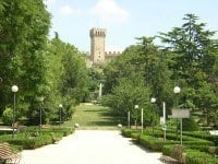 The Medieval castle in the municipal gardens of the city of Este, Italy.
